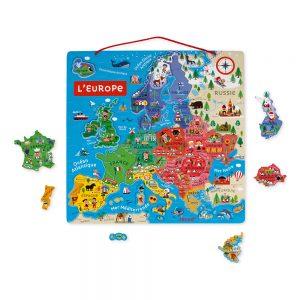 Carte d'Europe Magnétique - Janod