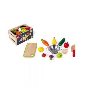 Maxi set - Fruits et légumes à découper - Janod