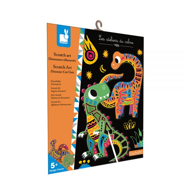 Kit créatif - Scratch art dinosaures - Janod